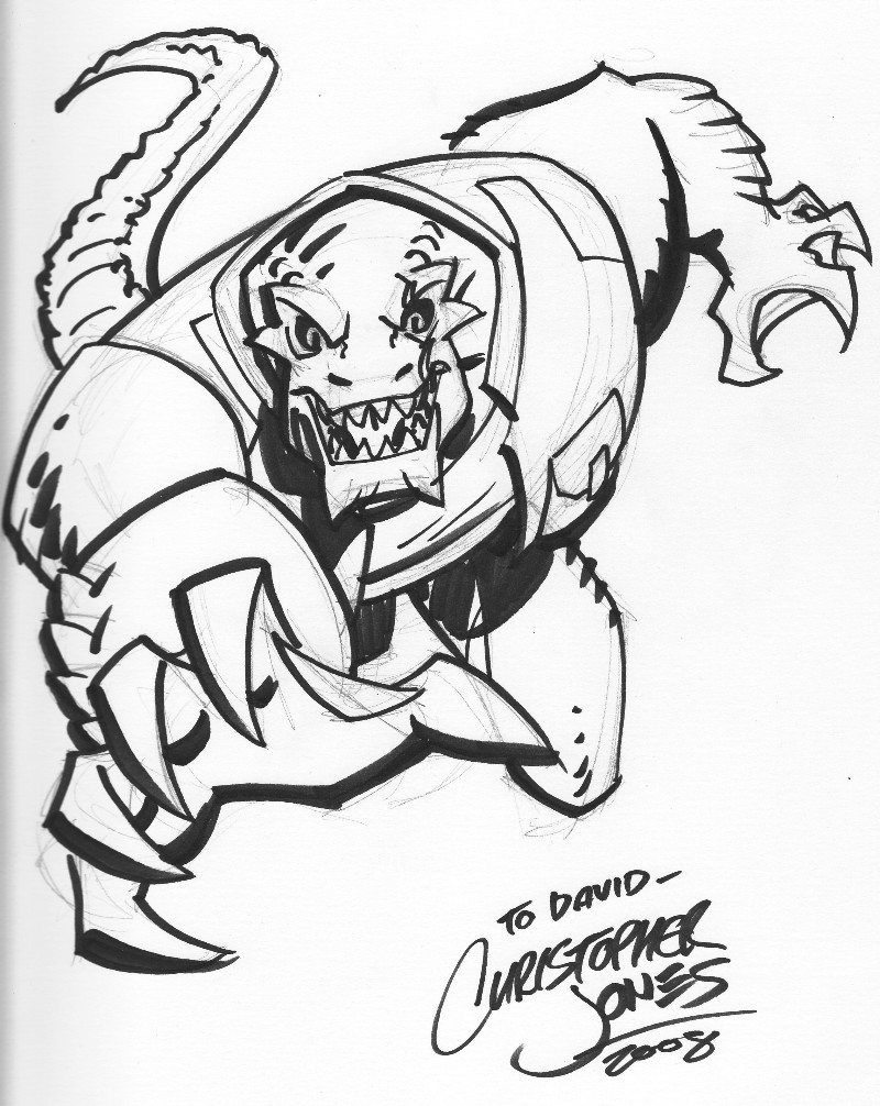 Clip Art Killer Croc Coloring Pages michael mays adventureblog killer croc by christopher jones this is the other commission i had done at microcon for david his favorite comic book charact