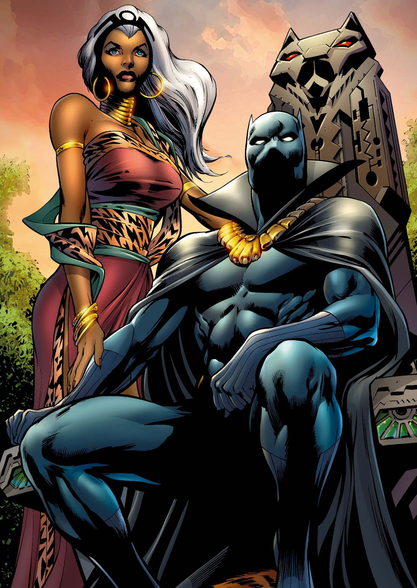Black Panther and Storm by FRANCIS PORTELA