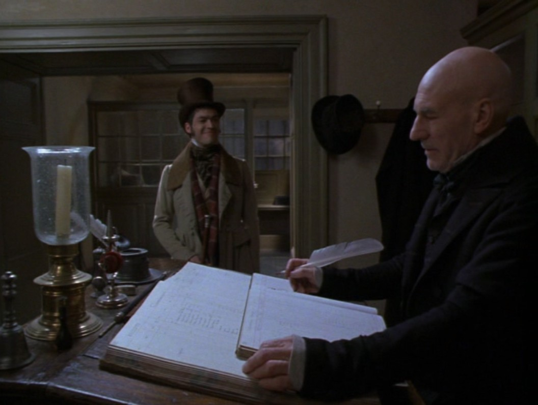 Uncle Scrooge Christmas Carol.Merry Christmas Uncle Patrick Stewart 1999 Michael