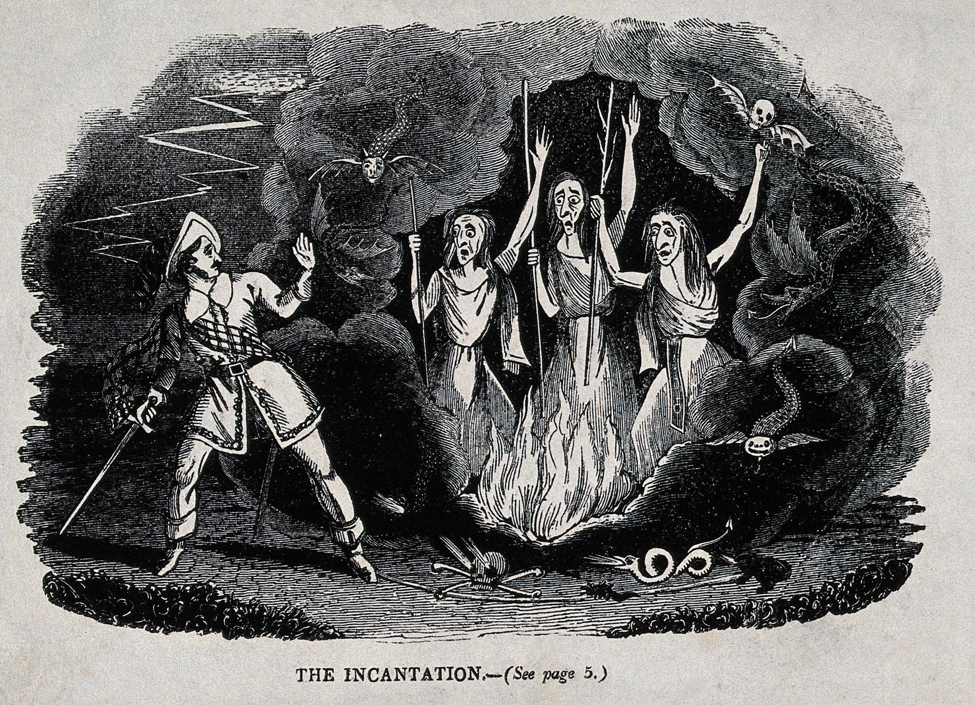a look at lady macbeths actions parallel to the witches in macbeth Macbeths downfall in the beginning of the play macbeth, macbeth is a successful and noble thane of glamis the witches tell macbeth prophecies that guide him to his downfall, but in the end it was his own selfish decisions that caused his demise.